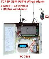 Фокус FC 7688 проводной сигнализации Системы 8 проводных зон 32 беспроводных зон 88 шины зоны стационарный GSM Интернет IP TCP проводной безопасност