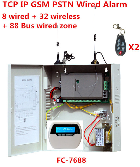 Wired Security | Focus Fc 7688 Wired Alarm System 8 Wired Zones 32 Wireless Zones 88