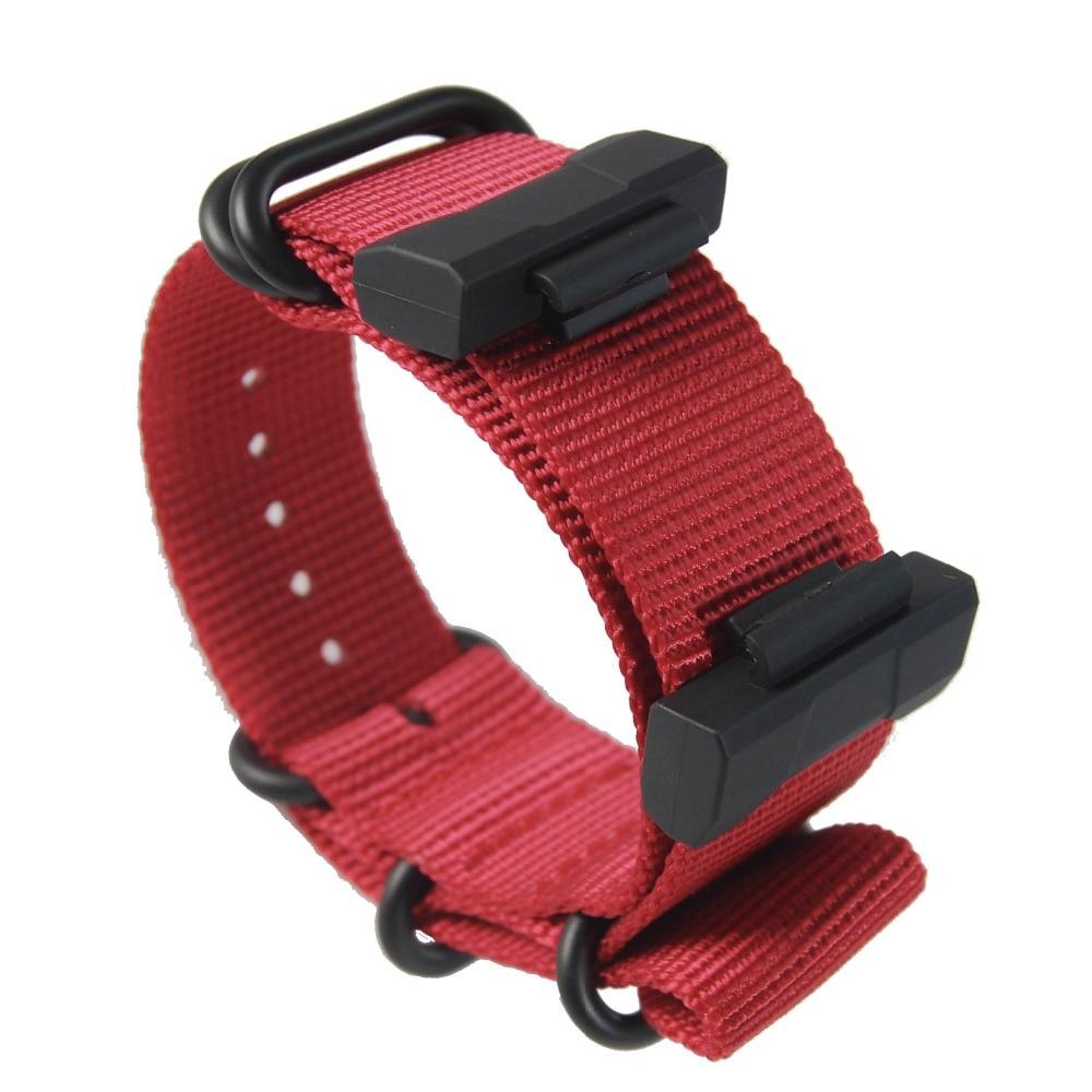 Conjunto de terminais Para casio G-SHOCK/GD/GA-700 + cinta de Nylon pulseiras de relógio GA-110 120 400