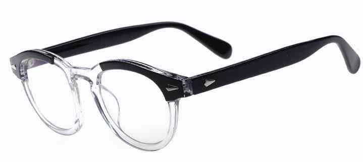 2018   Johnny Depp Style Glasses Men Retro Vintage Prescription Glasses Women Optical Spectacle Frame Clear lens