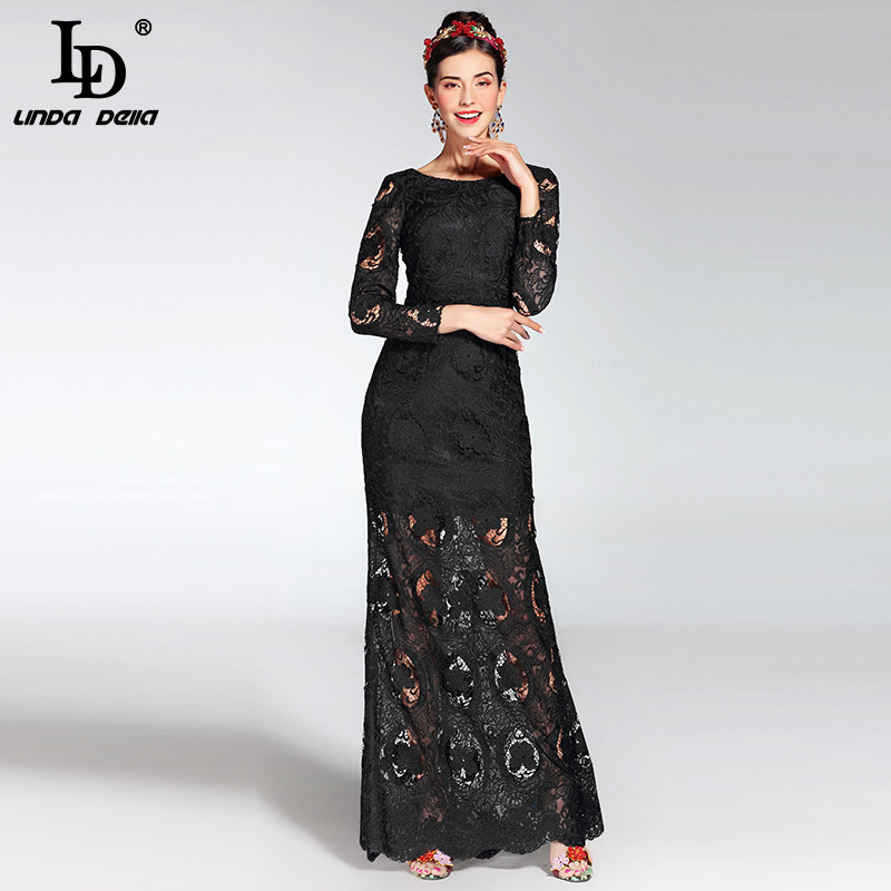Popular Long Sleeve Black Maxi Dress-Buy Cheap Long Sleeve Black ...