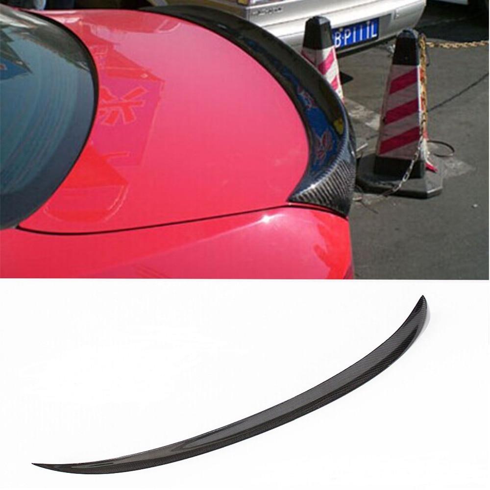 E90 M tech Style Carbon Fiber Trunk lip Spoiler Wing For BMW 2005-2012 for nissan skyline r32 gtr gtst frp fiber glass nismo trunk boot lip spoiler wing