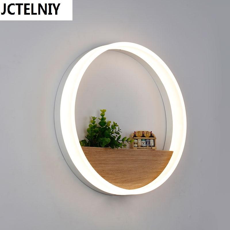 Гостиная настенный светильник водить Краткое Современные украшения Геометрия Круг кольцевой прикроватные бра