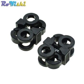 2 orificios 5,7mm cordones de zapatos hebillas de plástico candados de cuerda Toggle Stopper negro