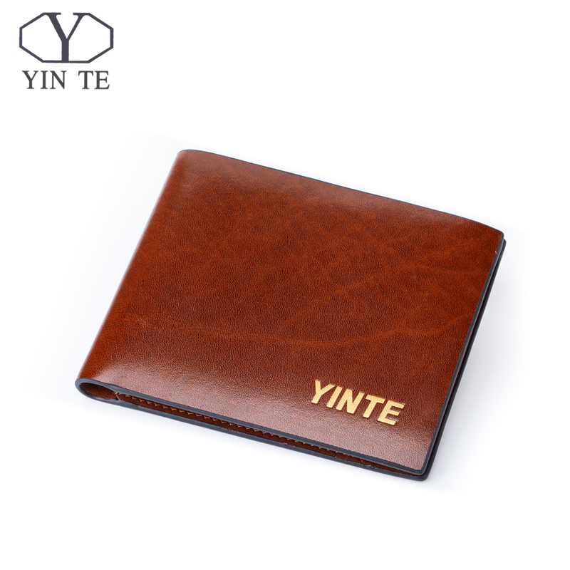 YINTE Free Shipping Men's Wallet Top Leather Business Purse Fashion New Design Leather Card Holder Pocket Purse Portfolio T830C