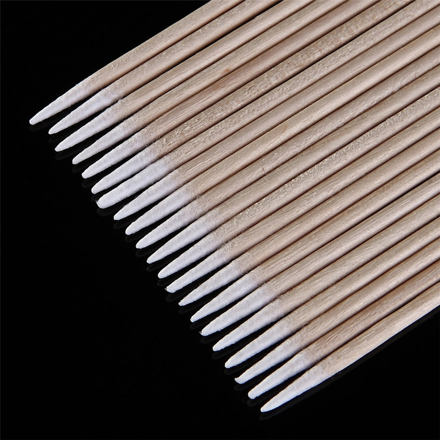 2017 Cotonete 100pcs Permanent Makeup Cotton Pointed Swab Medical Cure Health Makeup Stick Cotonete