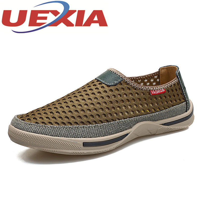 Summer Men Casual Shoes Breathable Mesh Sneakers Outdoor Comfortable Shoes Fashion Flats For Men Slip On Trainers Zapatos Hombre