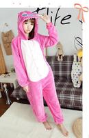 Free Shipping Pink Cartoon Animal Cosplay Sleepwear Anime Costumes Party Cloth