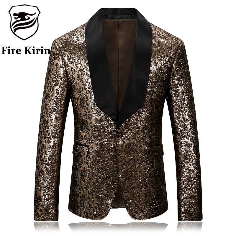 Fire Kirin For Men Slim Fit Blazer Stage Casual Suit
