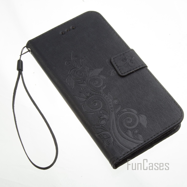 ✅Funda PU En Cuir Flip Cellulaire Mobile Téléphone Cas Pour iPhone