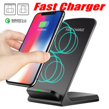 Qi Wireless Charger Car 2.0 Fast Charging For iPhone XS Max XR X 8 For Samsung S9 S8 S7  Fast Wireless Charging Stand Pad