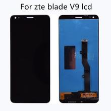 สำหรับ zte ใบมีด V9 กระจกหน้าจอ LCD หน้าจอสัมผัส digitizer สำหรับ zte BLADE V9 หน้าจอ LCD เปลี่ยนโทรศัพท์อุปกรณ์เสริม