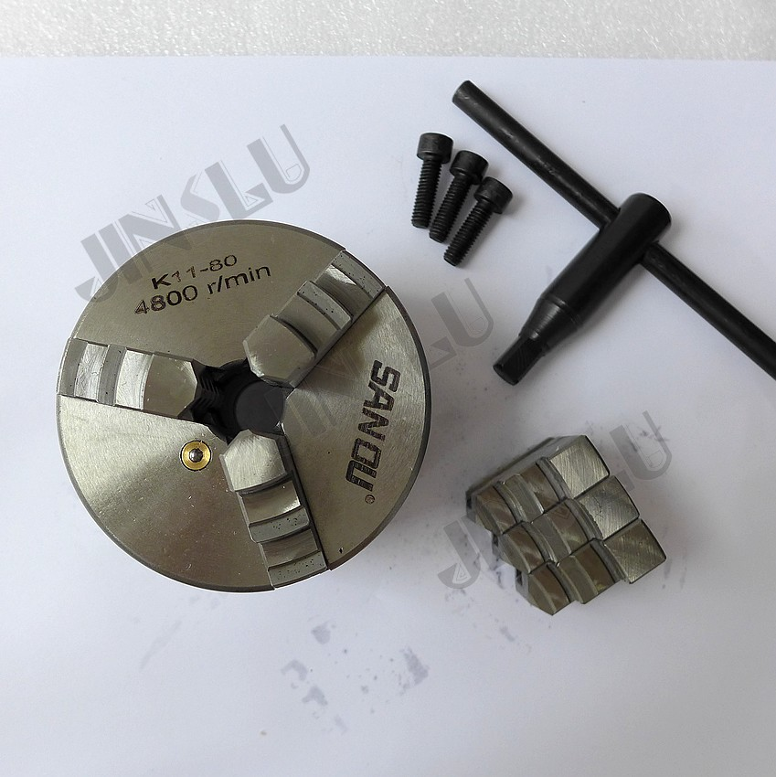 Free Shipping Self-centering Manual 3 jaw Lathe Chuck K11-80 3 inch 3 3 jaw lathe chuck k11 80 k11 80 80mm manual chuck self centering lathe parts diy metal lathe lathe accessories