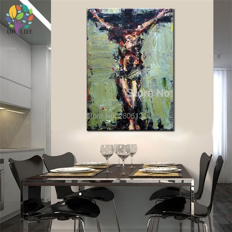 tangan dicat dinding lukisan Krismas lukisan minyak Jesus Hari Paskah - Hiasan rumah - Foto 2