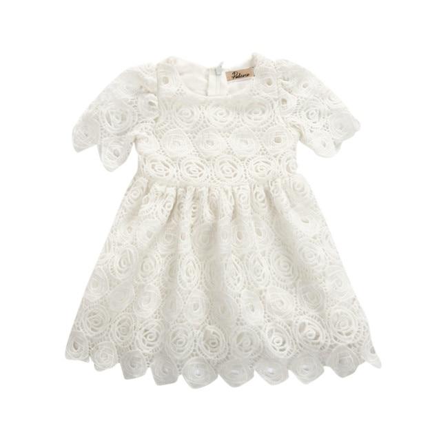 6a86b6c5cf07 Summer Newborn Baby Girls Princess Wedding Tutu Dress Sunsuit Kids Girl  Floral Lace Crochet Dress Vestidos Clothes Sundress