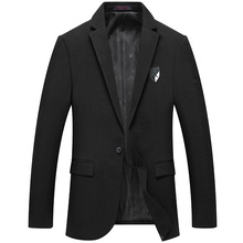 Фотография 2017 Mens jacket black color spring autumn outwear coat For Men