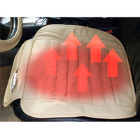 Leather Car Auto Seat Heater 12V Warm Winter Electric Heating Pad Cushion Car Covers Accessories