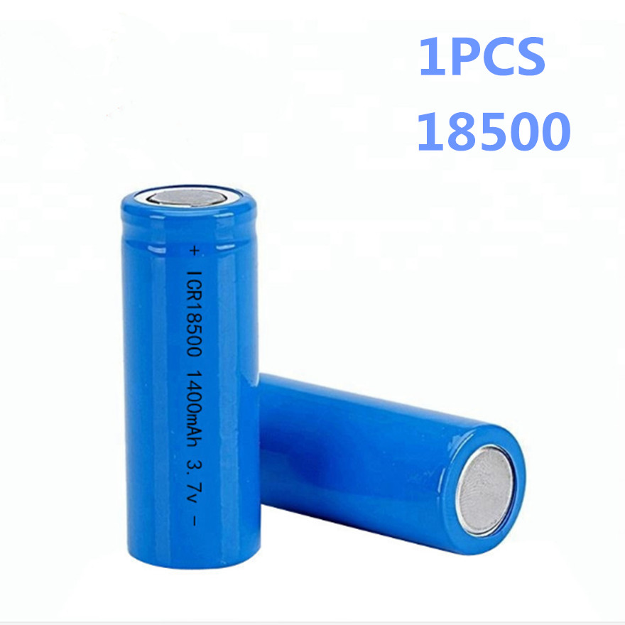SHSEJA 3.7V 18500 1400mAh rechargeable lithium battery 3.7V strong light flashlight anti-light special lithium battery image
