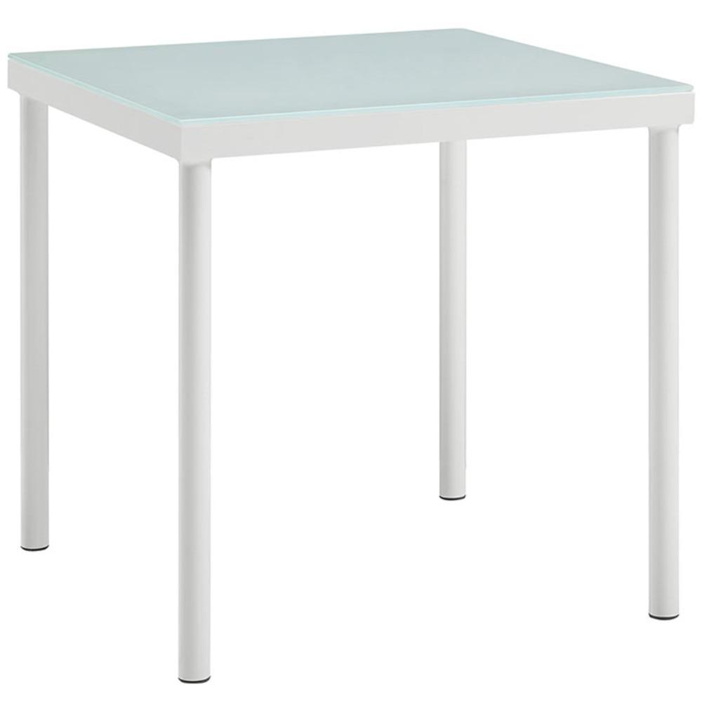 Harmony Outdoor Patio Aluminum Side Table, White nowodvorski harmony white iii