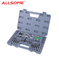 ALLSOME 40pcs M3 M12 Screw Thread Metric Plugs Taps Tap wrench Die Wrench Set