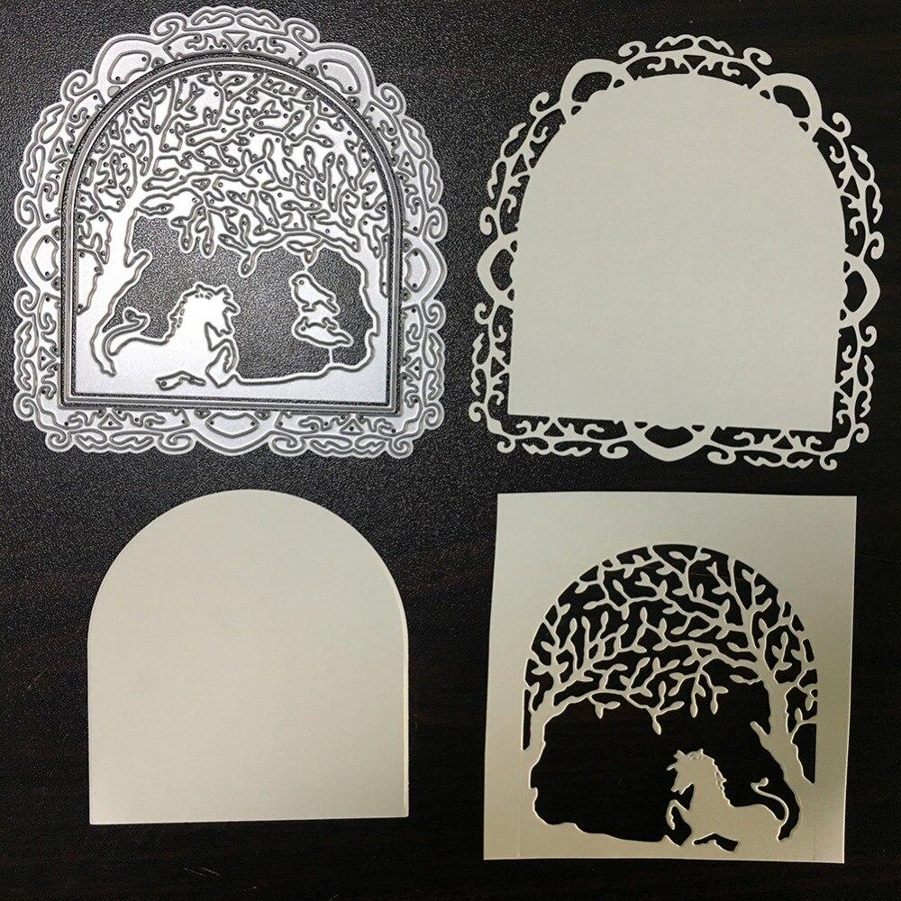 Flower Frame Horseshoe Shape Metal Cutting Dies Stencil Scrapbooking ...