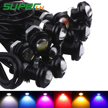 1 stücke 18mm Auto Led Eagle Eye DRL Tagfahrlicht LED 12 v Backup Parken Signal Autos lampen DRL Auto styling(China)