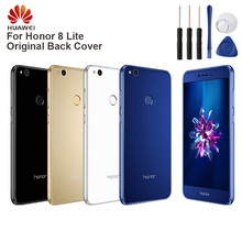 Huawei Original Back Battery Cover Housing For Huawei Honor 8 lite Battery Back Rear Glass Case huawei original back battery cover housing for huawei honor 8x honor8x battery back rear glass case