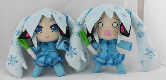Nueva llegada Hatsune Miku Hatsune nieve lindo Anime muñeca de peluche juguetes aproximadamente 56 CM regalo de cumpleaños envío gratis