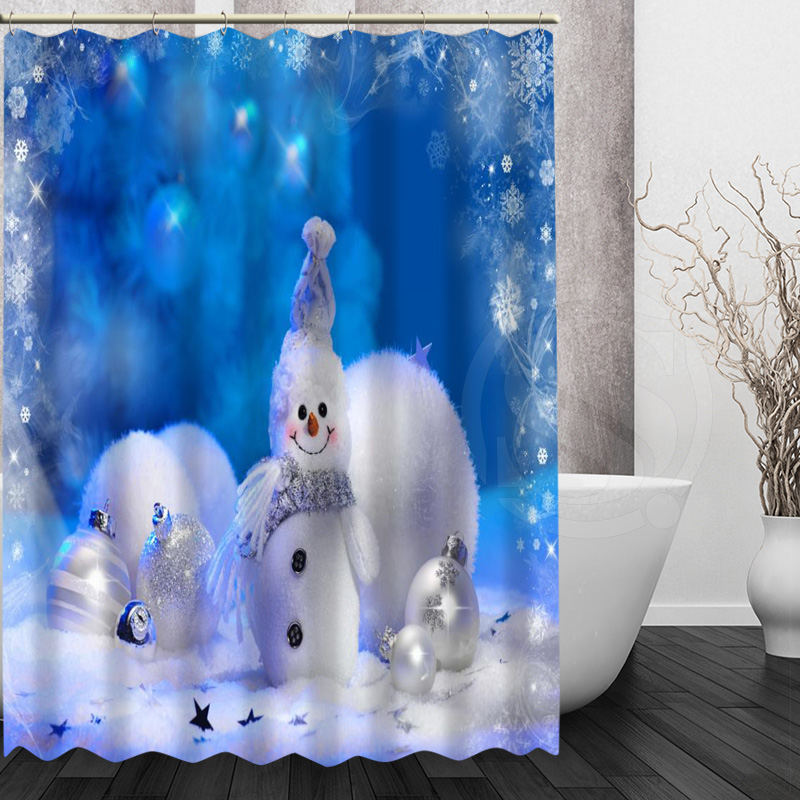 online get cheap snowman shower curtain alibaba group. Black Bedroom Furniture Sets. Home Design Ideas