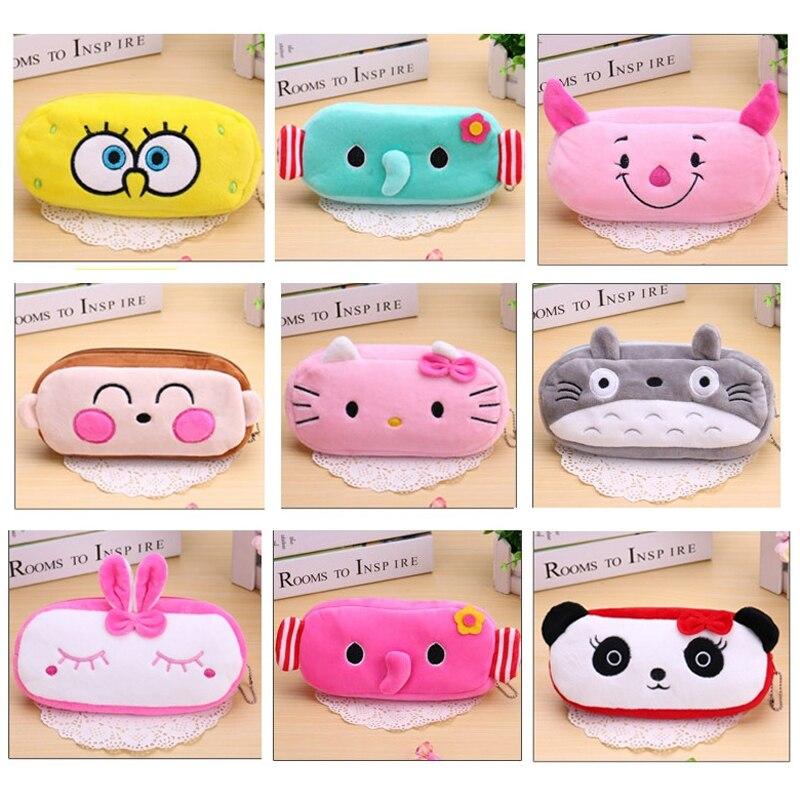 Милые плюшевые кошелек мультфильм животных школьников сумка Kawaii детские плюшевые Ручка сумки коробка канцелярские мешок для детей Для мал...