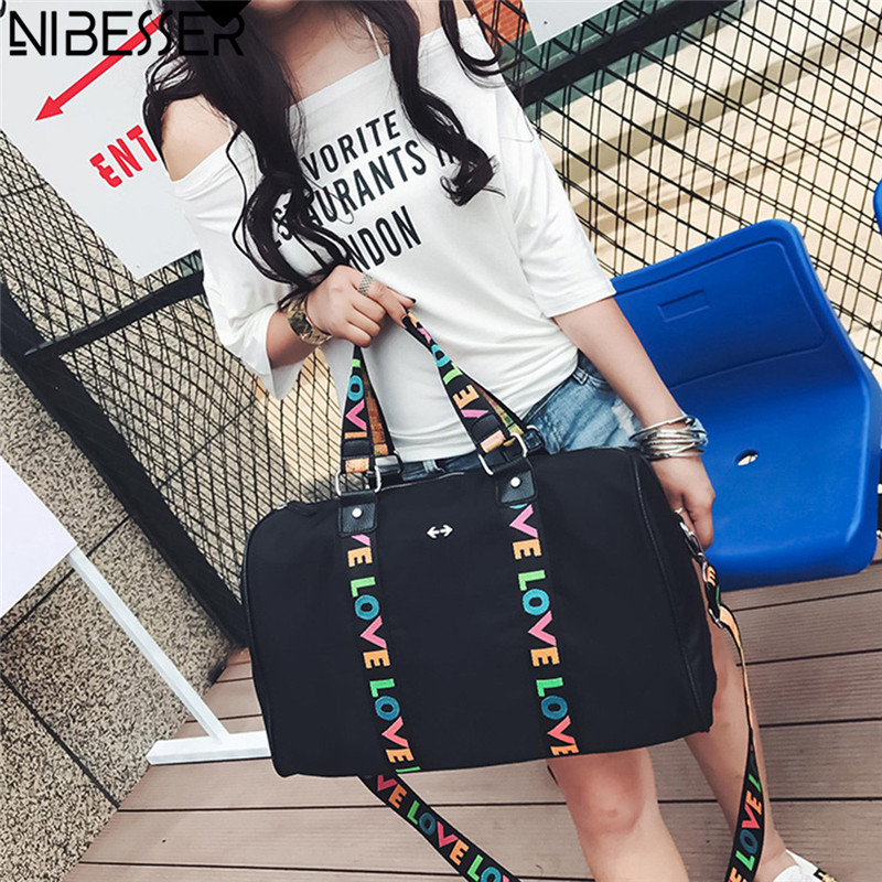 NIBESSER Waterproof Shoulder Bag Women Portable Large Capacity Travel Bag High Quality Fashion Casual Tote Bag for Pad Love Belt
