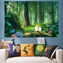 Chic Forest Wall Tapestry Flower Birds Decoration Hanging Psychedelic Tapestries 3D Fabric 200*300cm