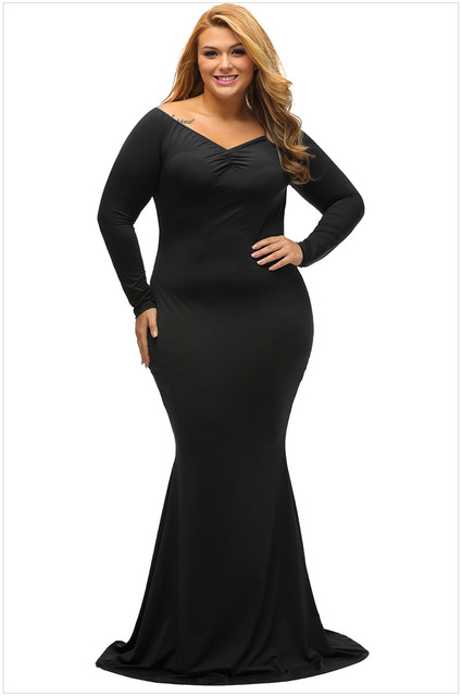 Y Plus Size Vintage Exotic Dresses Trumpet Boho Deep V Sheath Fish Tail