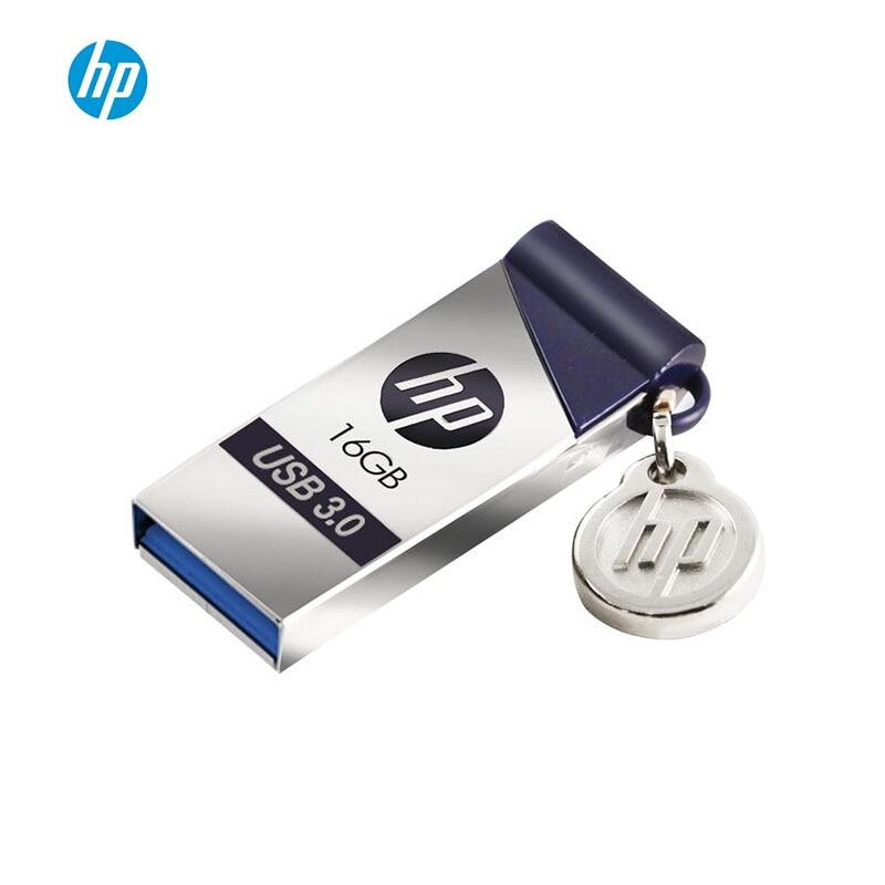 Original HP X715W USB3.0 High Speed USB Flash Drive 16GB 32GB 64GB 128GB Pendrive Custom DIY Cute Mini Usb Flash Metal Pen Drive