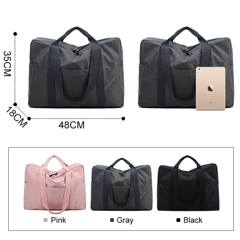 Travel Luggage Duffle Bag Lightweight Portable Handbag Black Shark Print Large Capacity Waterproof Foldable Storage Tote