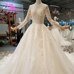 Image 4 - AIJINGYU Wedding Dresses Bridal Gown Vintage Lace Off the Shoulder India Plus Size Modest Gown Vintage Bride Dress