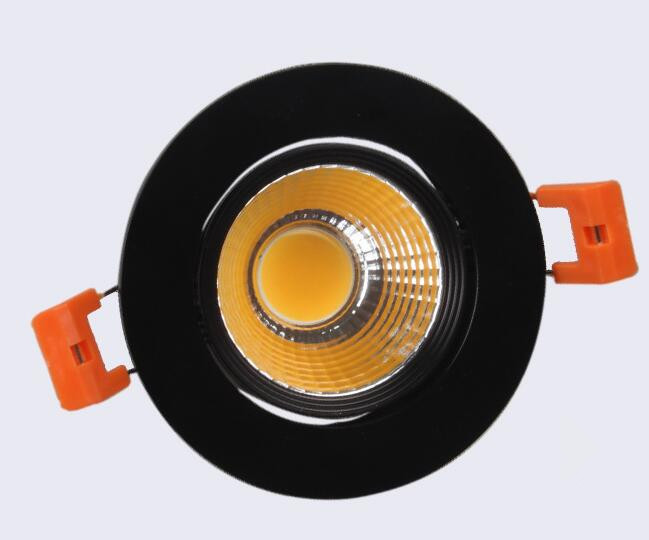 Dimmable LED Downlight 10W 15W Black shell COB LED DownLights Dimmable COB Spot Recessed Down light Light Bulb AC110V AC220V in Downlights from Lights Lighting