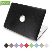 Cover Case For MacBook Air 11 6 GOLP Luxury Fitted Silk Pattern Grain PU Leather Cover