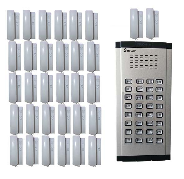 SMTVDP Home Security Direct Press Key Audio Door Phone for 32 apartments, 2-wired audio intercom system in stock