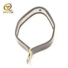Универсальный зажим выхлопной трубы из нержавеющей стали для мотоцикла с резиновой амортизацией и фиксированным кольцом для мотоцикла для Akrapovic Yoshimura