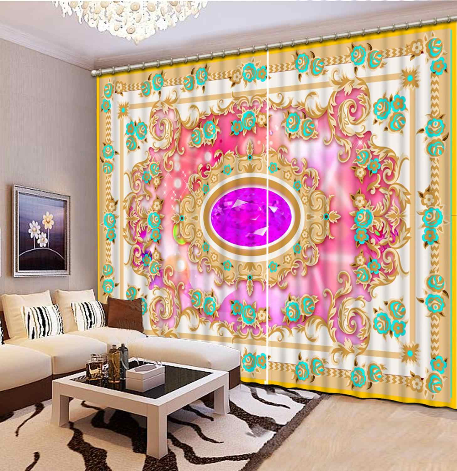 Euporean pattern curtain for the living room Bedroom girls room curtains customize blackout curtains