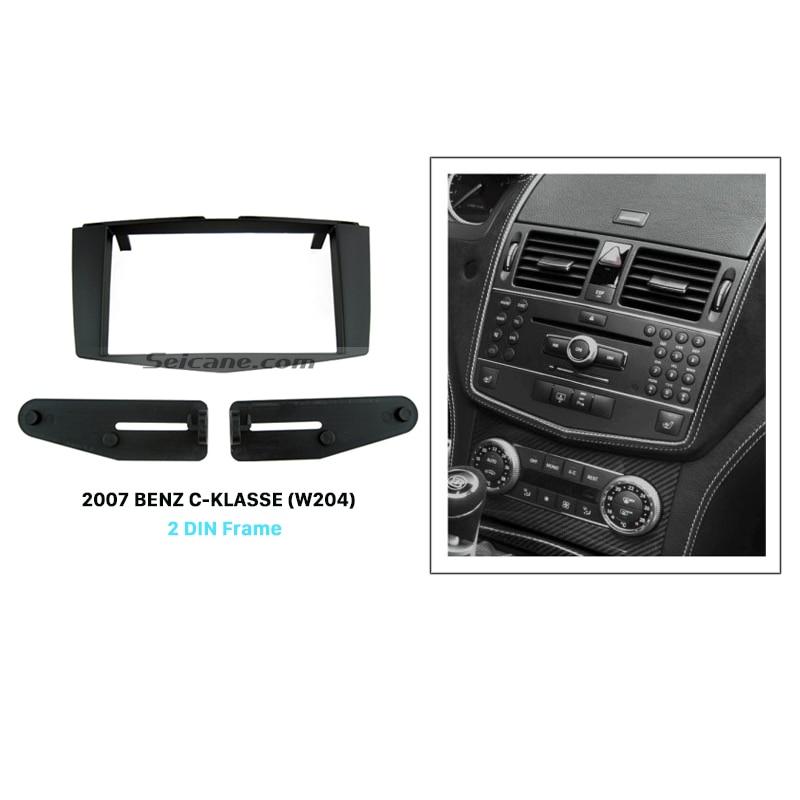 Seicane Double Din Audio Frame Car Radio Fascia for 2007 Mercedes BENZ C-KLASSE W204 Dash CD Trim Installation Kit Panel Adaptor seicane double din audio frame car radio fascia for 2007 mercedes benz c klasse w204 dash cd trim installation kit panel adaptor