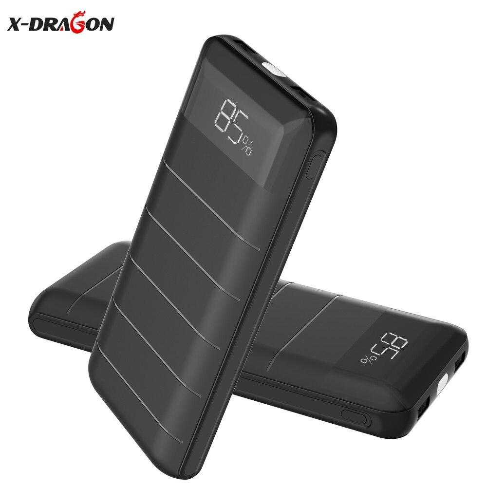 20100 мАч Портативный Запасные Аккумуляторы для телефонов внешний Батарея Dual USB телефон Зарядное устройство пакет для iPhone 6 S 7 7 s 8 x плюс Huawei HTC …