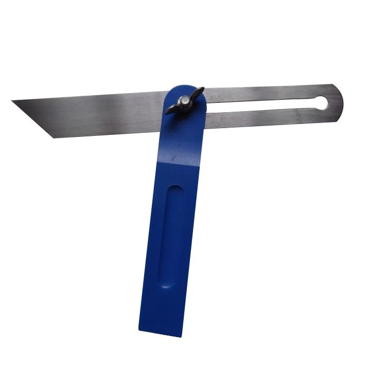 Przesuwne łatwy w użyciu kąt wyszukiwarka T skos miernik Carpenter praktyczne profesjonalny przenośny regulowany trwałe narzędzie ze stali nierdzewnej w Kątomierze od Narzędzia na title=