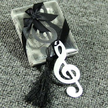 100pcs Alloy Sliver Music Note Bookmark Vintage Chinese Document Books Markers Label Stationery Exquisite Gifts wa3310