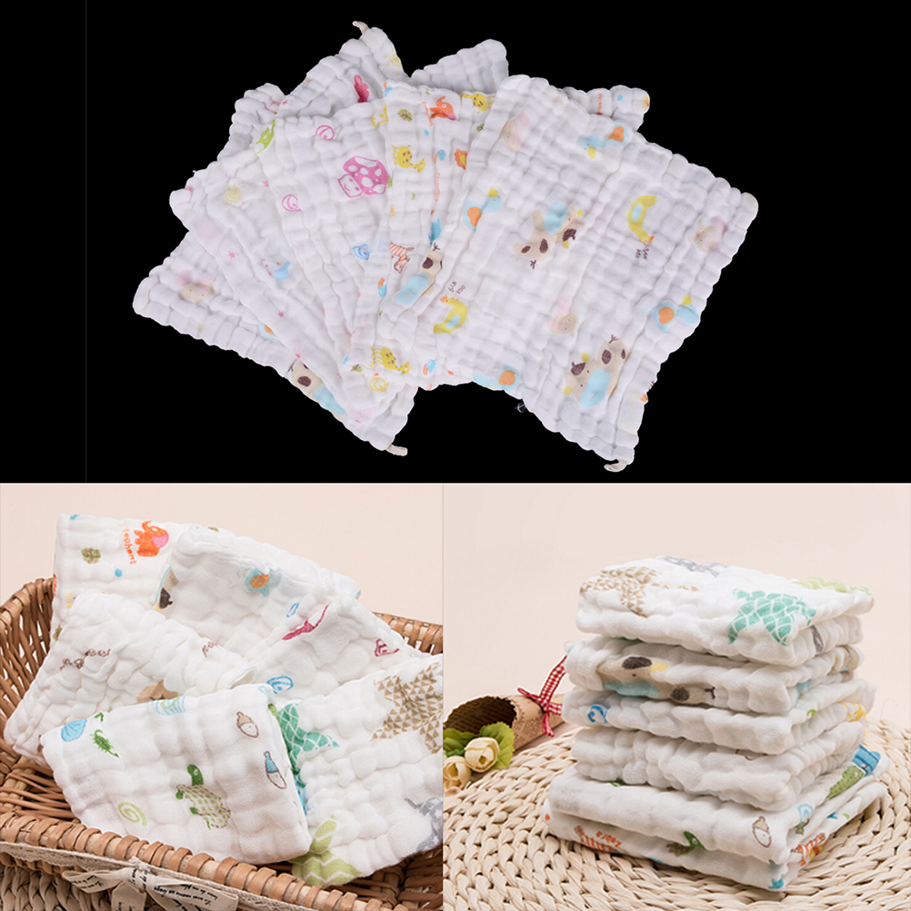 Soft Cotton Baby Handkerchief Infant KidsTowel Newborn Baby Washcloth Baby Child Feeding Wipe Cloth New