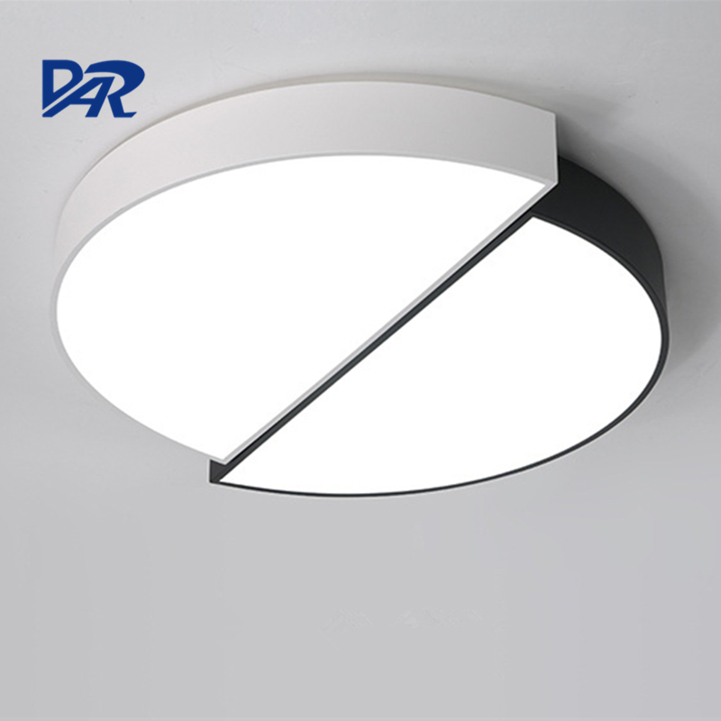 DAR 2017 Modern Led Ceiling Lamps Fixtures Black&White Iron Body Acrylic Shade Ceiling Lights Home Decoration Lamparas De Techo noosion modern led ceiling lamp for bedroom room black and white color with crystal plafon techo iluminacion lustre de plafond