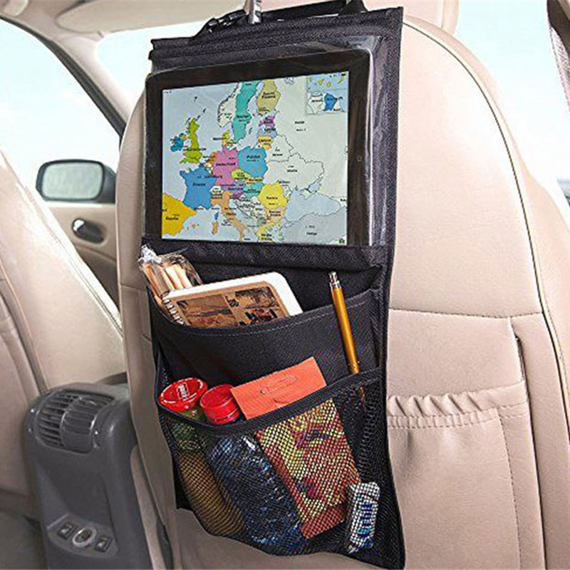 Universal Back Car Seat Organizer Holder Auto Car Seat Organizer Holder Multi-Pocket Tablet Wallet Case Bag universal pu leather car seat covers for toyota corolla camry rav4 auris prius yalis avensis suv auto accessories car sticks