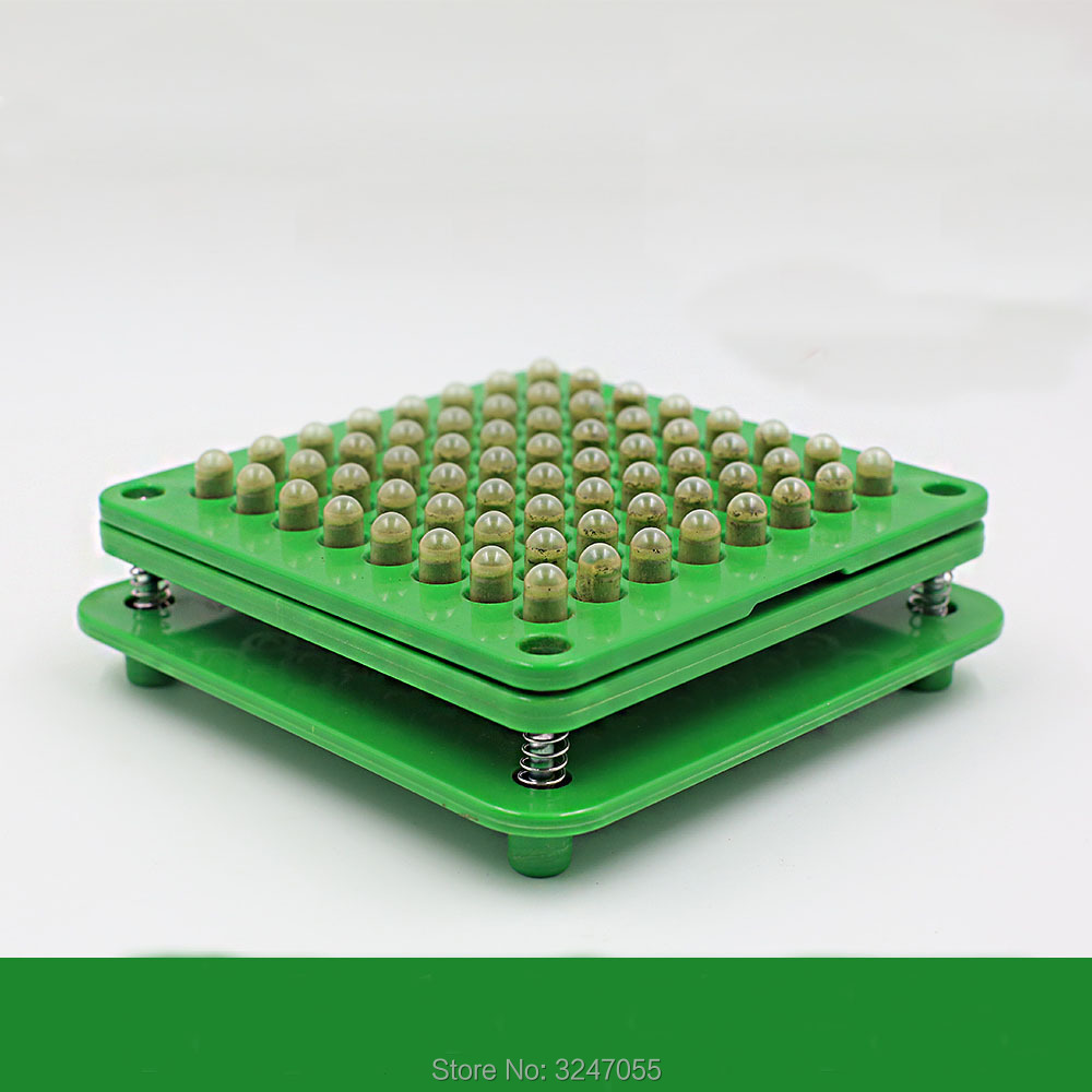 1Set/Lot 64Holes Empty Capsule Filling Machine, DIY Plastic Medicine Capsule Filler, High Quality Green Size 0# Capsule Filling