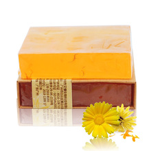 100g Natural Herb Calendula Handmade Soap Repair Pore Anti Allergic Aromatherapy Vegan Soap